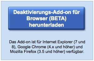 Deaktivierungs-Add-on für Browser von Google Analytics BETA