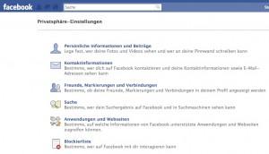 Facebook Privatsphaere-Einstellungen