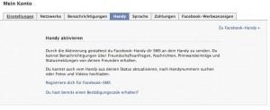 Facebook Kontoeinstellungen Handy