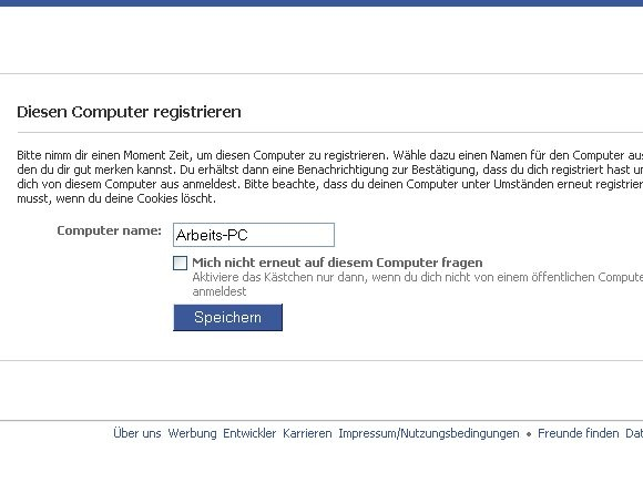 Facebook PC registrieren