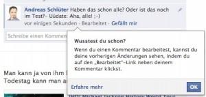 Facebook Kommentare Bearbeiten