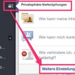 Facebook Provatsphäre einstellungen