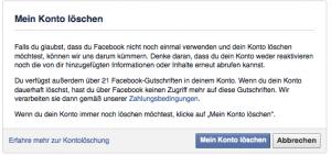 Facebook Konto loschen