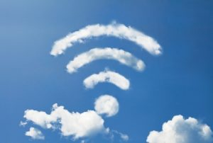wifi cloud shape